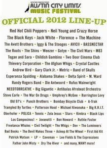 Austin City Limits Poster 2012