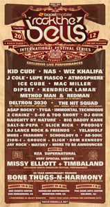 Rock the Bells festival 2012 Poster