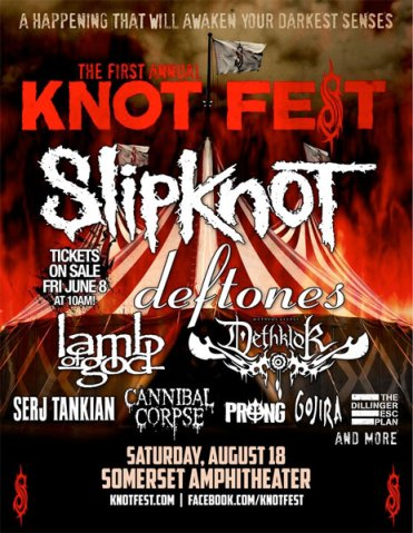 Knotfest 2012 poster