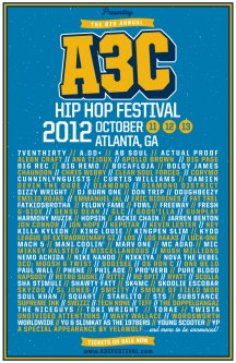 A3C Hip Hop Festival 2012 Poster