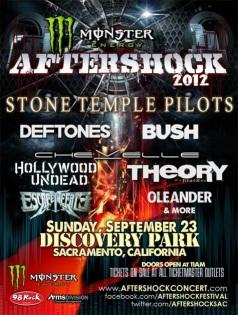 Aftershock Festival Poster 2012