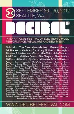 Decibel Festival Seattle, Poster 2012