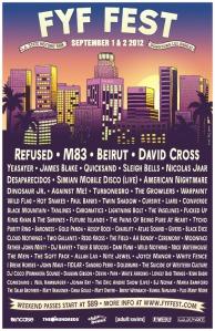 FYF Fest 2012 poster July