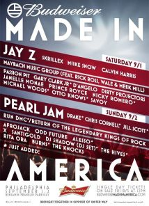Made in America Line Up Poster 2012