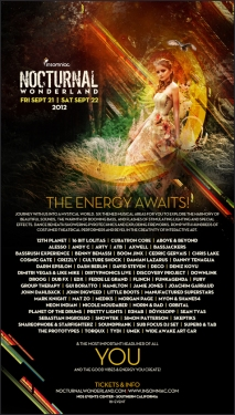 Nocturnal Wonderland Poster 2012