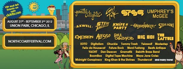 North Coast Music Festival Line Up 2012