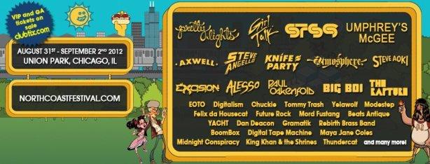 North Coast Music Festival Line Up 2012