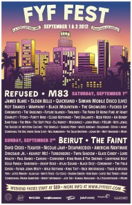 FYF Line Up Poster 2012