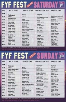 FYF Fest set time schedue 2012
