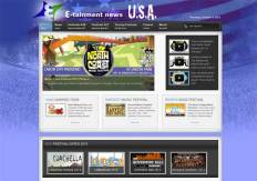 new e-tainment news website design